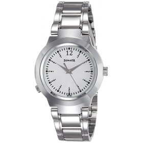 Sonata Analog White Dial Women's Watch-90057sm01