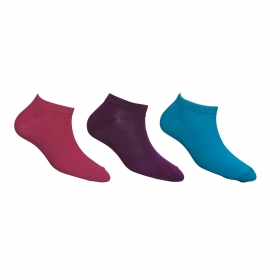 Footmate Women Ankle Socks(bright Colour) (3 Pair Pack)