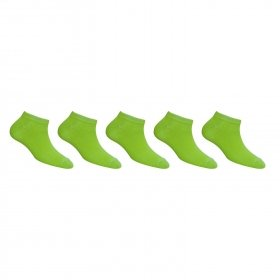 Footmate Women Parrot Green Ankle Socks (5 Pair Pack)