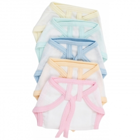 Nappies 5 Pcs 304b - Light Colors, L
