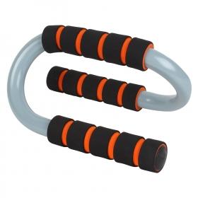S Shape Push Up Bar, Pair (black/orange)