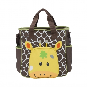 Brown Giraffe Baby Diaper Bag Nappy Mummy Bag Print Maternity Handbag Changing Baby Messenger Bag (giraffe)