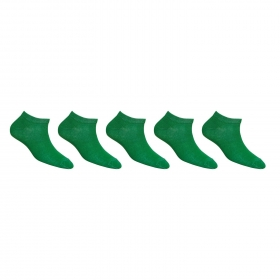 Footmate Women Green Ankle Socks (5 Pair Pack)
