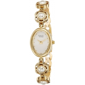 Titan Raga Aurora Analog White Dial Women's Watch-2511ym08