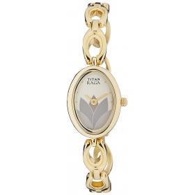 Titan Analog Women's Light Champagne Dial Watch - 2511ym04