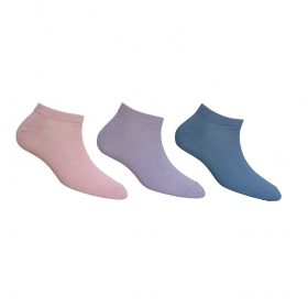 Footmate Women Ankle Socks(lite Colour) (3 Pair Pack)