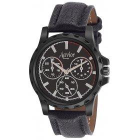 Aavior Men's Black Dial Chronograph Pattern Analog Wrist Watch -aa.004