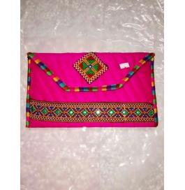 Handicraft Kutchi Pink Purse