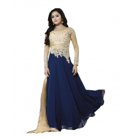 Blue Color Suit With Bottom And Dupatta
