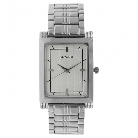 Silver Dial Stainless Steel Strap Watch