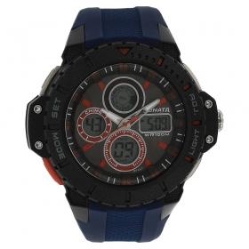 Black Dial Polyurethane Strap Watch (77044pp03j)