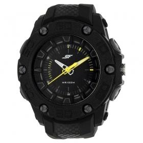 Black Dial Polyurethane Strap Watch (77060pp02j)