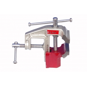 Ketsy 780 Red Iron Cast Baby Vice - 60 Mm