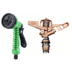 Ketsy 790 2 Pcs. Water Spray Gun And Water Sprinkler Brass