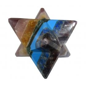 7 Chakra Merkaba Star Large Crystal Sacred Geometry Quartz Reiki Point 8 Healing