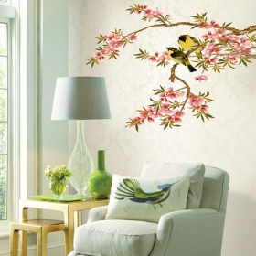Ay7207 Cute Birds On The Tree Nature Wall Sticker  Jaamso Royals