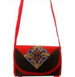 Handicraft Kutchi Black Sling Bags