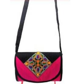Handicraft Kutchi Pink Sling Bags