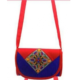 Handicraft Kutchi Blue Sling Bags