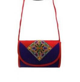 Handicraft Kutchi Blue Sling Bags
