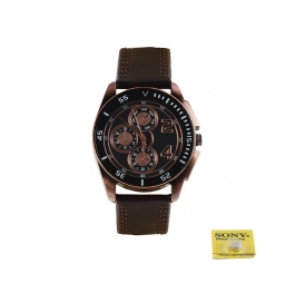 Rise N Shine Black Copper Dial Men's Analoge Watch