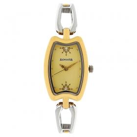 Sonata Beige Dial Analog Watch (8116bm02)