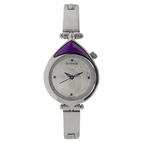 Sonata Silver Dial Stainless Steel Strap Watch (8119sm01c)
