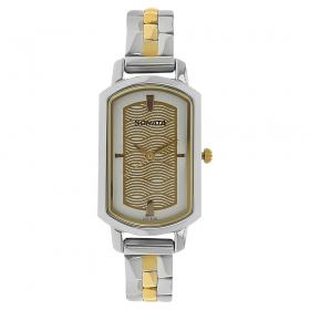 Sonata Beige Dial Stainless Steel Watch (8139bm01)