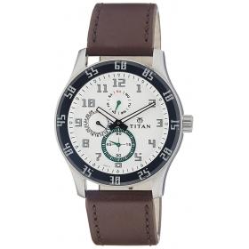 Titan Octane Analog White Dial Men's Watch - 1632sl01