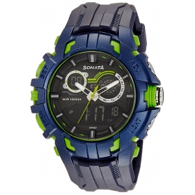 Sonata Analogue-digital Black Dial Watch For Men-77045pp04j