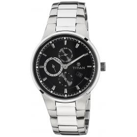Titan Gfstl Multi-function Analog Black Dial Men's Watch - 9472sm01j