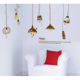 Ay9140 Antique Light Bulbs Modern Wall Sticker  Jaamso Royals