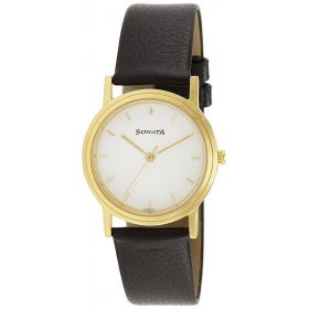 Sonata Classic Analog White Dial Men's Watch - Nd1141yl02c