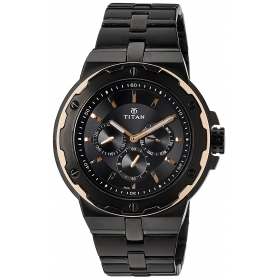 Titan Analog Multi Color Dial Men's Watch - 1654km04
