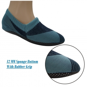 Footmate Unisex Anti Slip Slipper Socks; 12mm Sponge Bottom With Rubber Grip