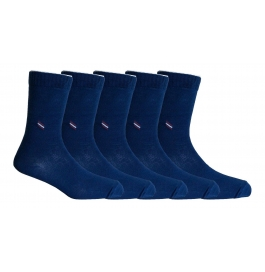 Footmate Socks Men's Navy Formal Socks (5 Pair Pack)