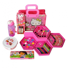 All In One Stationary School Kit For Girls Birthday Combo Gift Set