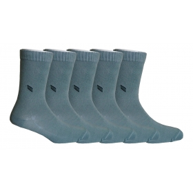 Footmate Socks Men's Olive Green Formal Socks (5 Pair Pack)