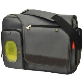 Fastfinder Deluxe Messenger Diaper Bag (gray)