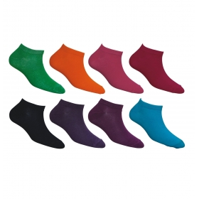 Footmate Women Ankle Socks (bright Dark Colour) (8 Pair Pack)