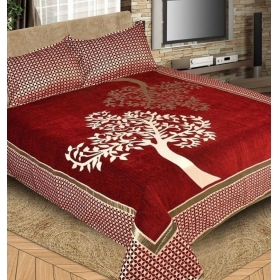 Reliable Trends Premium Chenille Velvet Bedsheet