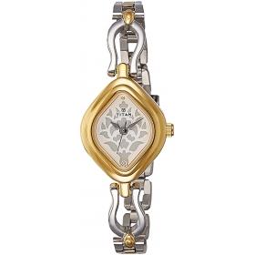 Titan Analog White Dial Women's Watch - 2536bm02