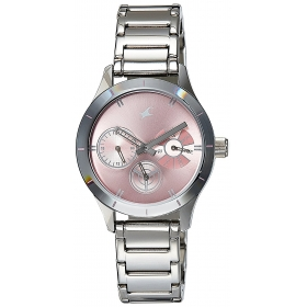 Fastrack Monochrome Analog Pink Dial Women's Watch - 6078sm07