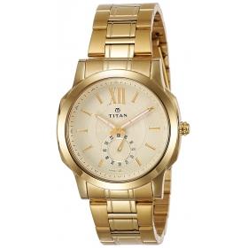 Titan Regalia Rome Analog Champagne Dial Men's Watch-1721ym01