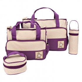 5pcs/set Baby Diaper Bag (purple)