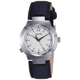 Sonata Analog White Dial Women's Watch-90057sl01