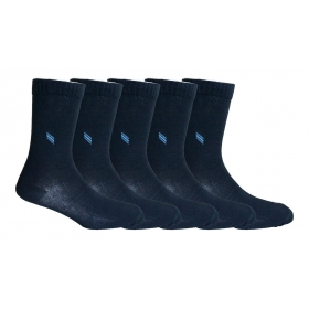 Footmate Socks Men's Black Formal Socks (5 Pair Pack)