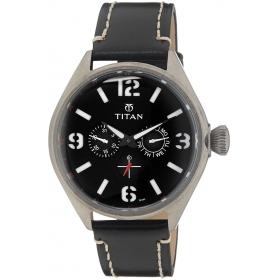 Titan Purple Upgrades Analog Black Dial Men's Watch - 9478ql01j