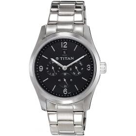 Titan Gfstl Multi-function Analog Black Dial Men's Watch - 9493sm02j
