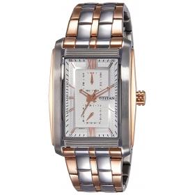 Titan Analog Silver Dial Men's Watch-1724km01